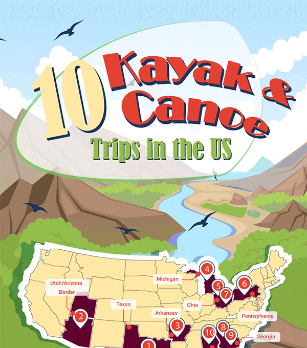 10 Kayak & Canoe Trips