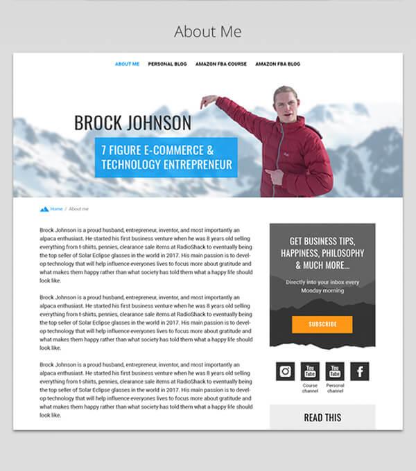 Brock Johnson Website