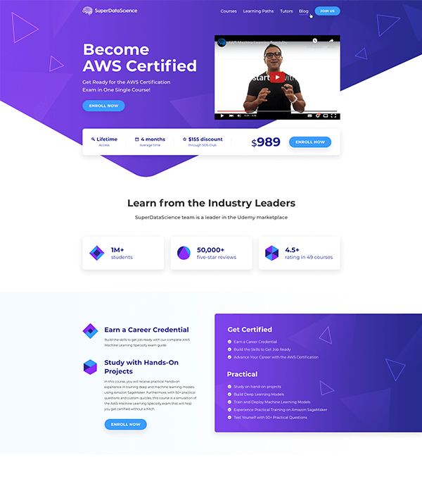 Landing page for SDS
