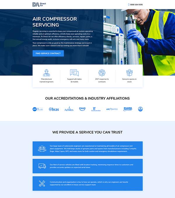 Air Compressor Servicing Website