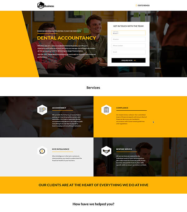 Landing Page for Hive